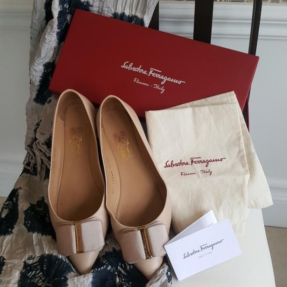 1f6901e9c Salvatore Ferragamo Shoes   Mini Leather Pointedtoe Flat   Poshmark